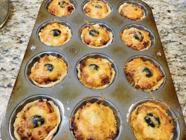 tamale pies baked in pan